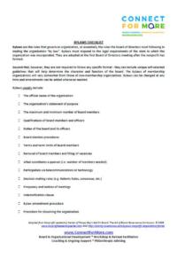 Bylaws Checklist