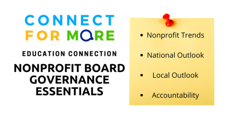 Nonprofit Board Governance Essentials Course | Connect for More