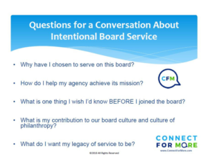 Intentional Board Service