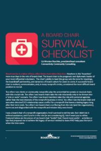 Board Chair Checklist