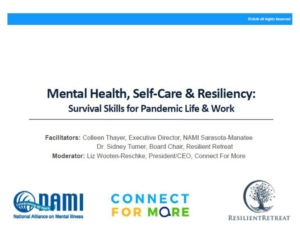 Virtual Workshop Wednesday Mental Health Self Care Resiliency